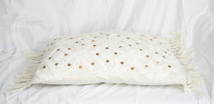 Earthy Home Style, Ethically Made Homewares, Handmade, eco-conscious, Ivy Lumbar Cushions White