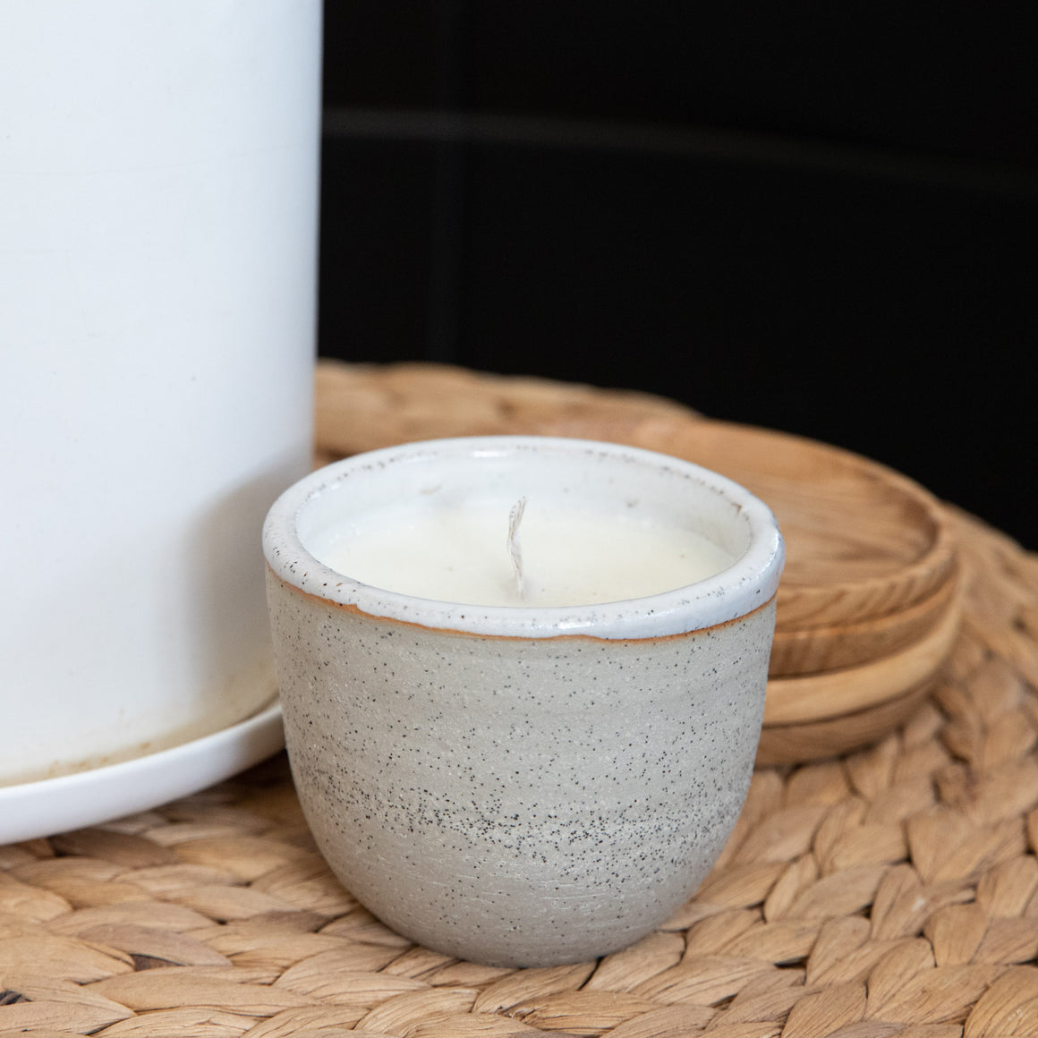 Earthy Home Style, Ethically Made Homewares, Handmade, eco-conscious, Ceramic Soy Candle