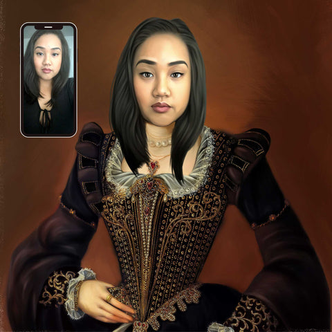 Renaissance Person Painting From Photo