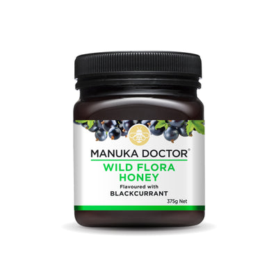 Wild Flora Honey with Blackcurrant 375g