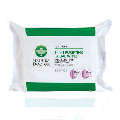 ApiClear 3-in-1 Purifying Facial Wipes