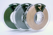 Load image into Gallery viewer, LIMITED EDITION #RumblePak: 3 Spools! Army OD Green, Gunmetal Gray, Coyote Tan 1.75 PLA MADE IN THE USA!