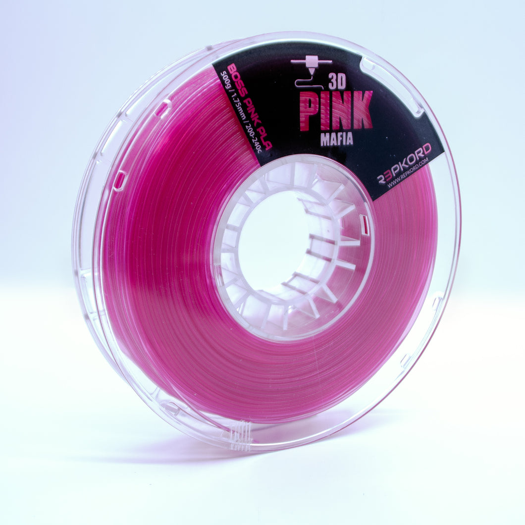 LIMITED EDITION Boss Pink PLA 1.75mm by 3DPink Mafia