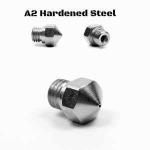 Micro-Swiss Plated A2 Hardened Steel Nozzle for MK10 All Metal Hotend Kit (Plated A2 Hardened Tool Steel)