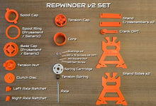 Load image into Gallery viewer, The RepWinder: A spool rewinder solution for RepBox Prusa MMU2 integration and Sample Filament Winding