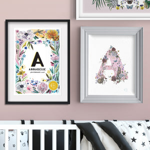 IN BLOOM - FLORAL PERSONALISED ART PRINT