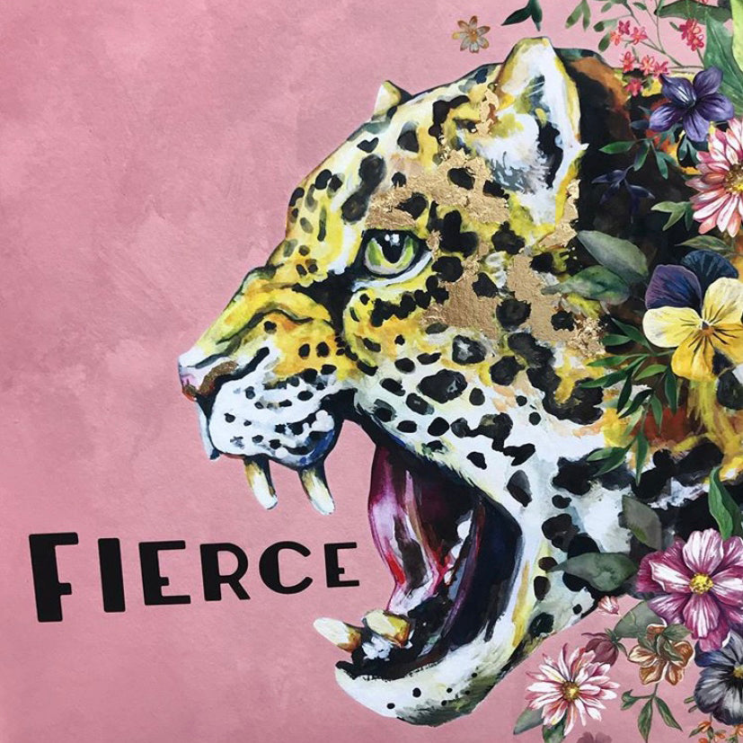 I AM... FIERCE ART PRINT WITH GOLD LEAF DETAIL