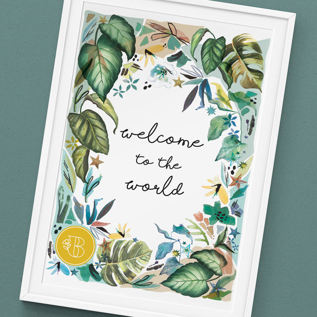 BLOOMING LEAFY - FOLIAGE PERSONALISED ART PRINT