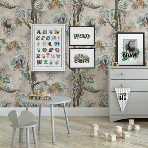Safari So Goody - Stone Wallpaper 60 x 300cm Roll