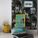 Safari So Goody - Black Wallpaper 60 x 300cm Roll
