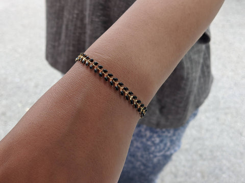 Black and Gold Ivy bracelet