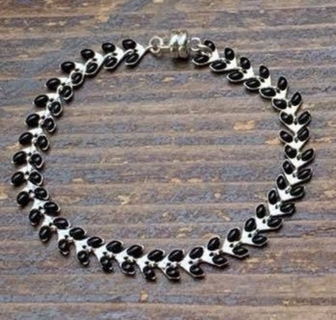 Black and Silver Ivy Bracelet