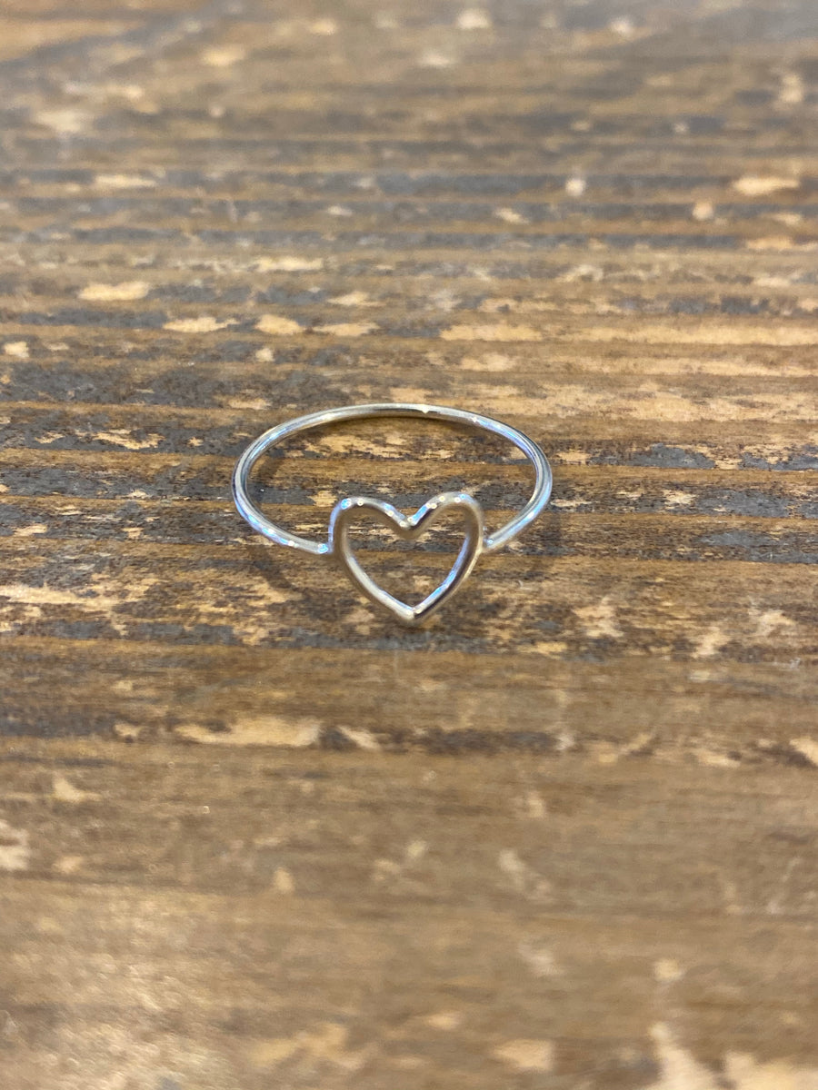 Silver heart ring size 7