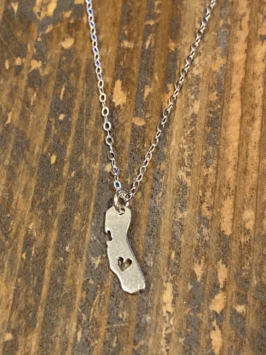 Silver Open California Necklace