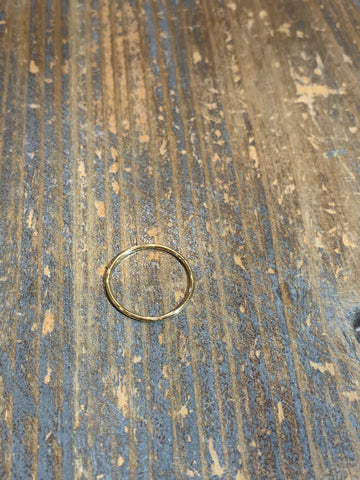 Simple Band Ring Gold Size 6