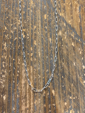 Sterling silver link choker necklace