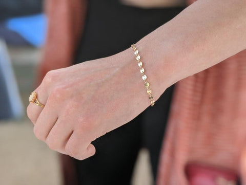 Gold Layered Disc Bracelets