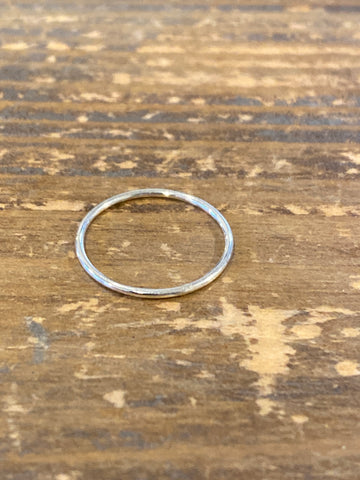Simple Band Ring Silver Size 6