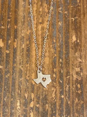 Silver Open Texas Necklace