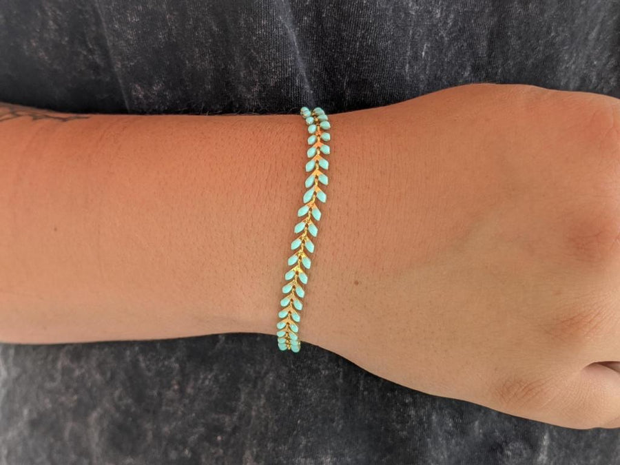 Regular Mint Gold Ivy Bracelet