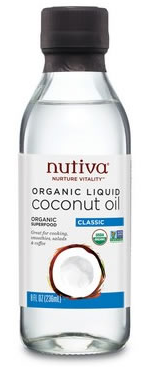Nutiva Organic Liquid Coconut  Oil 473ml