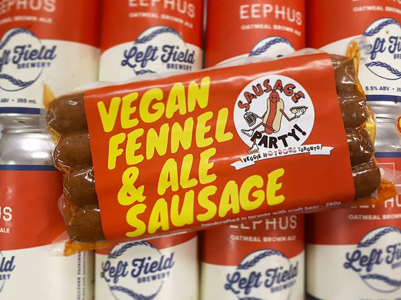 Sausage Party Vegan Fennel and Ale Sausages