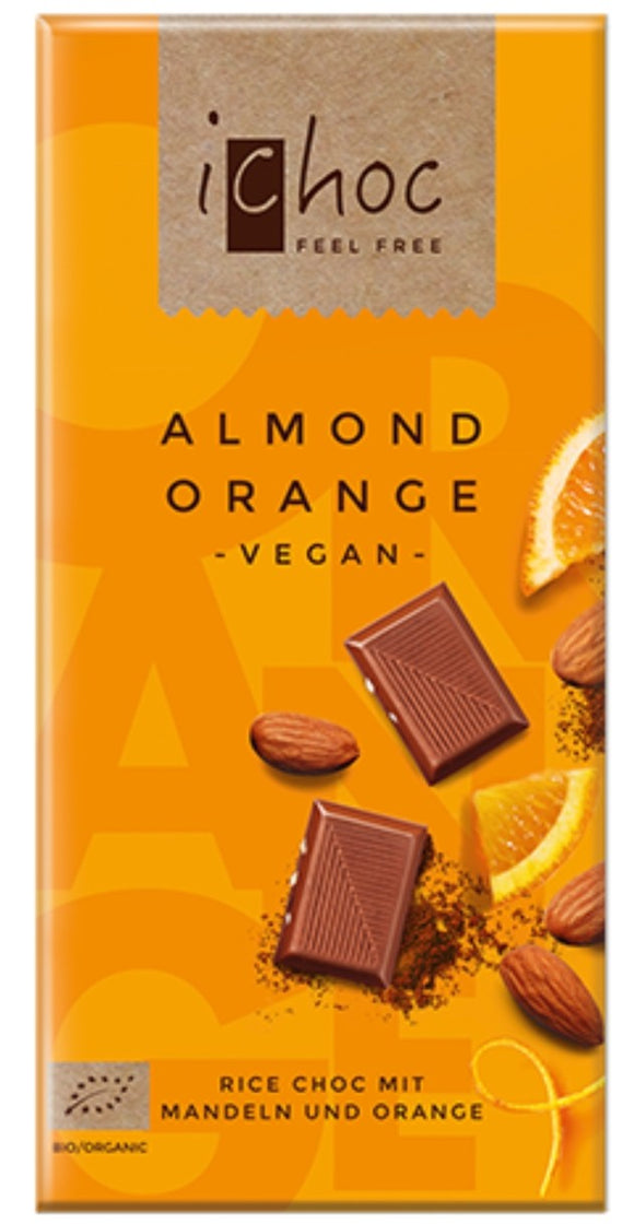 iChoc Almond Orange Chocolate Bar
