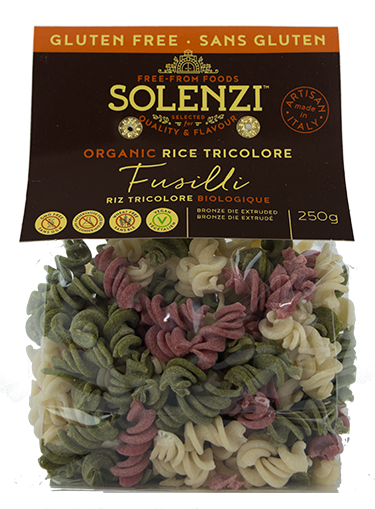 Solenzi Beetroot, Spinach & Rice Fusilli Tricolour 250g