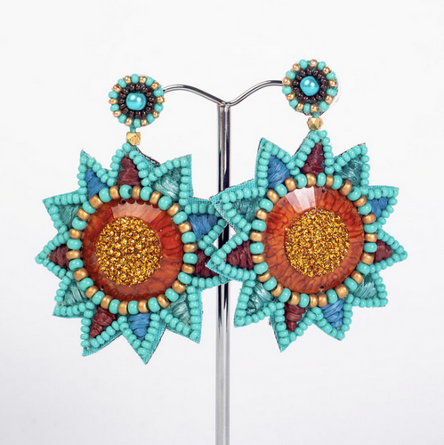 statement beaded earrings