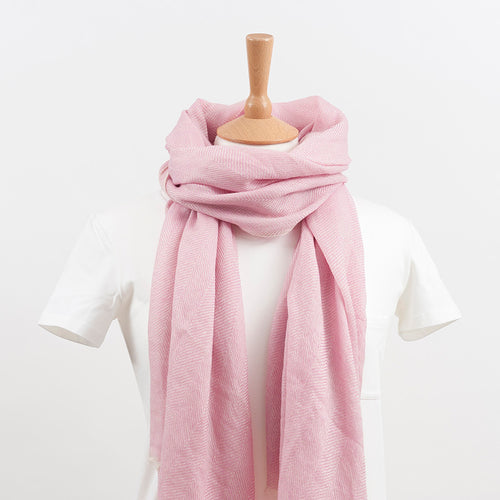pale pink women's scarf