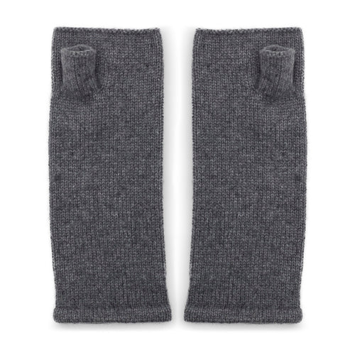grey cashmere fingerless gloves