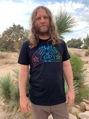 THE END Rainbow HANDS Logo Tee
