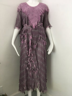 1980's Lilac Fringe 3pc Goddess Set