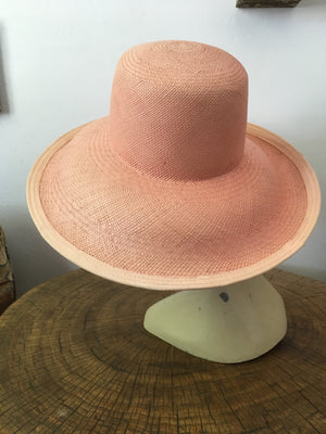 Shell Pink Summer Straw Hat