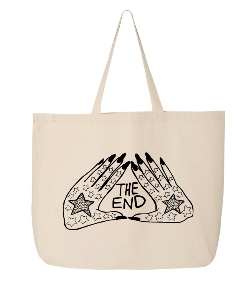 THE END HANDS LOGO LARGE TOTE BAG