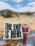 THE END IS HERE Large Tote Bag