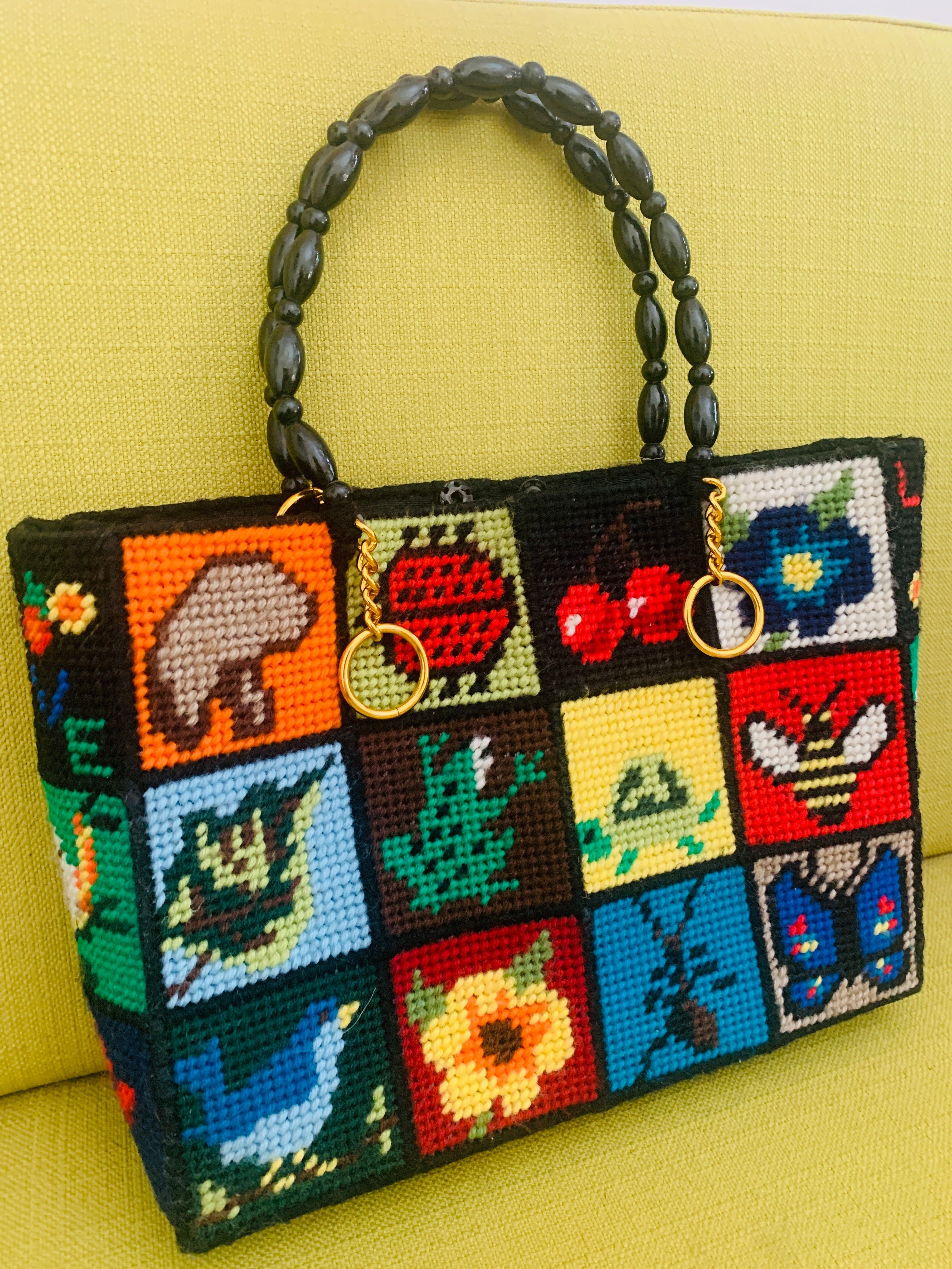 Fun Needlepoint Purse