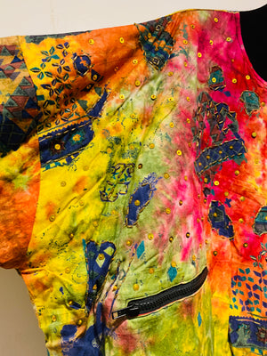 Vintage Puffy 80's Dyed Sequin Bomber