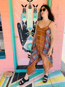 Diva Silk Jumpsuit in Neutral Print