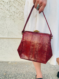 Red Snakeskin Purse