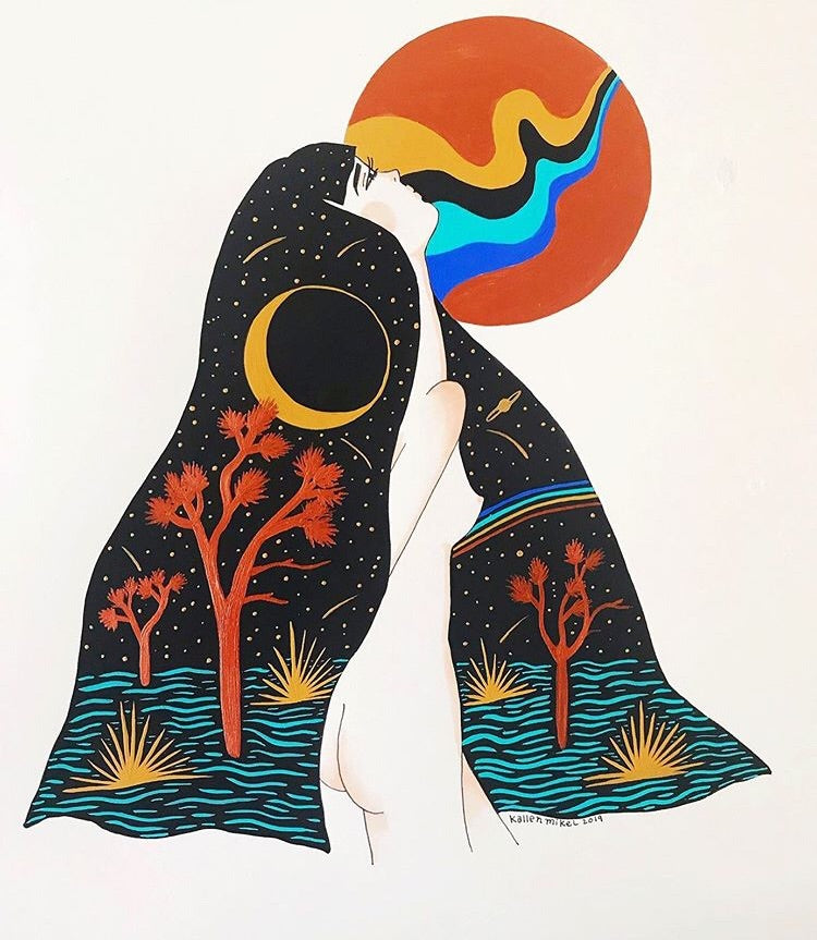 Yucca Moon and the Cosmic Mama Print