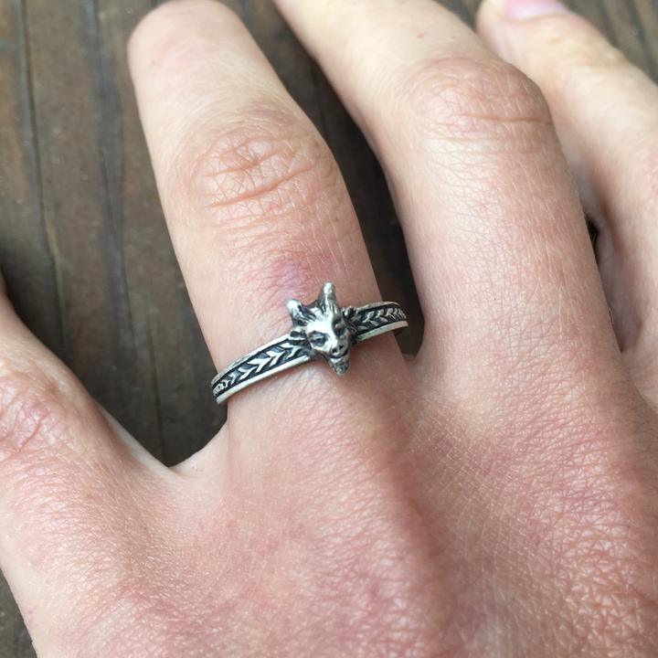 Lil Devil Sterling Silver Ring ~ Size 7