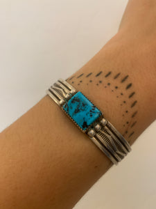Sterling Silver & Turquoise Stone Cuff