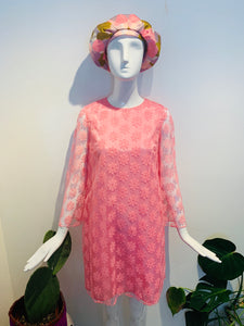 Lovely 60's Lacey Pink Party Dress