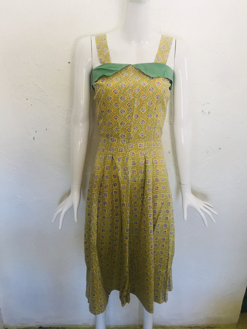 1940s Sweet Print Sundress