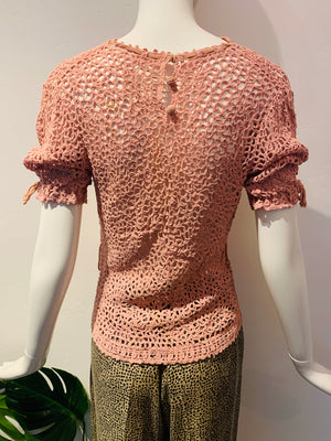 Darling 1940's Pink Knit Top