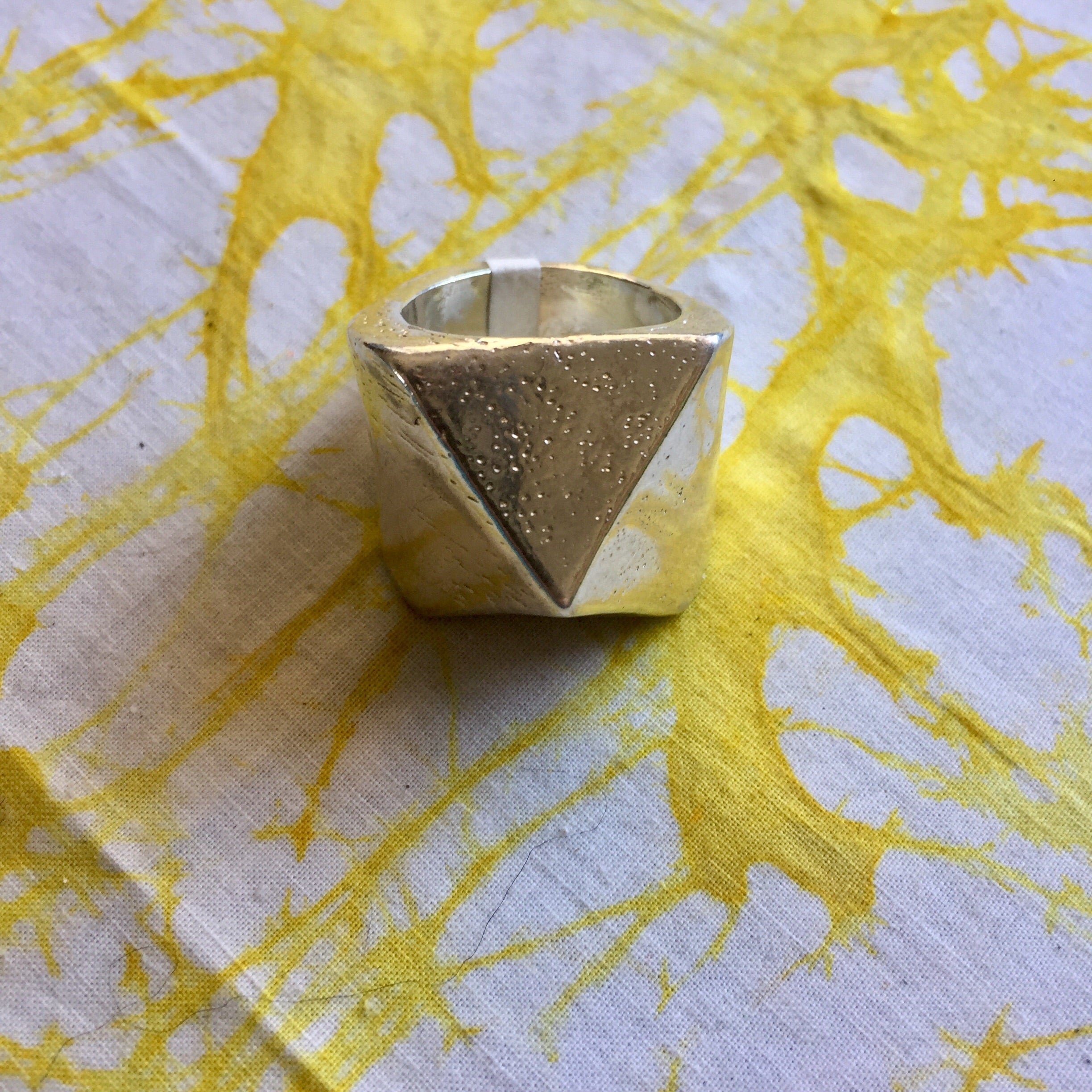 Sterling Silver Pyramid Ring ~ Size 9