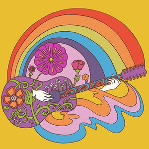 Psychedelic Guitar Print