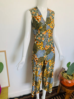 70s Geometric Jumpsuit