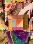 Handmade Patchwork Leather Clutch